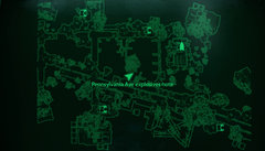 Explosives note map