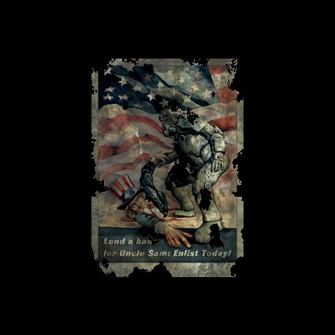 Постер «Подай руку дядькові Сему: вступай в армію сьогодні!»