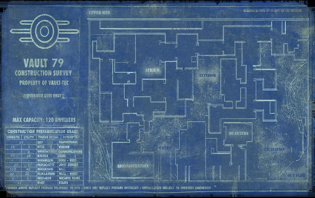 F76WL Vault 79 blueprint