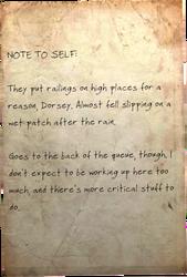 Note to self Railings