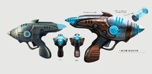 Art of Fallout 4 alien blaster pistol