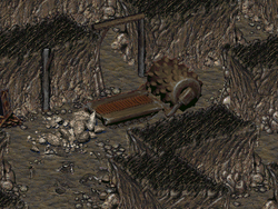 FO2 Quest Find the excavator chip pos 1