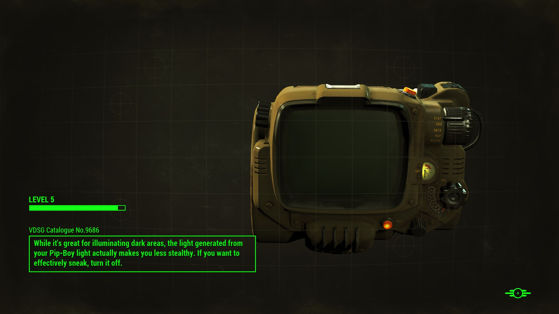 FO4 Pip-Boy 3000 Mark IV Loading Screen
