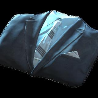 Чистий синій костюм в інвентарі