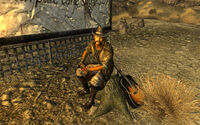 Lonesome Drifter with guitar