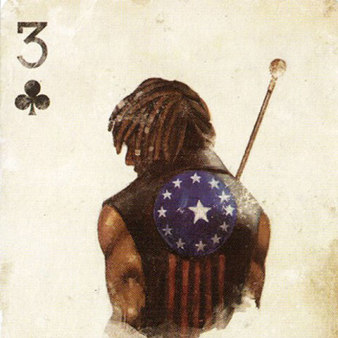 Old Glory in Collector's Edition playing card