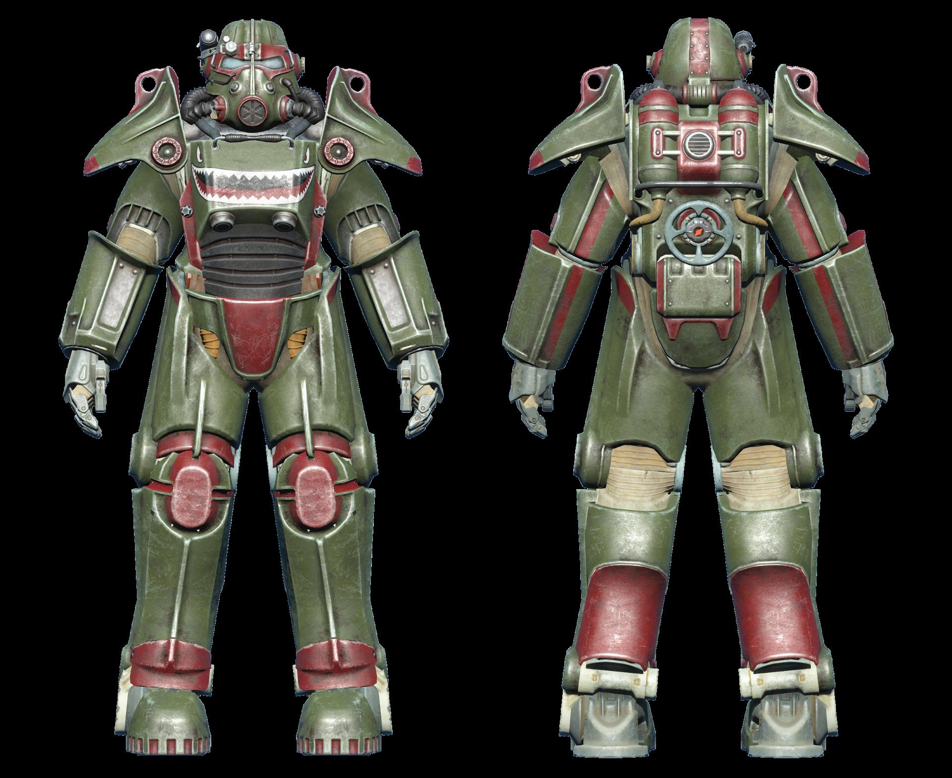 FO4 T-45 power armor hot rod shark