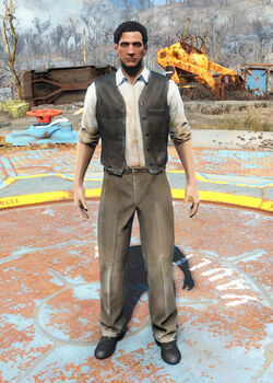 FO4 Black Vest and Slacks