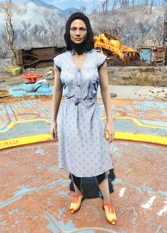 Fo4Laundered Blue Dress