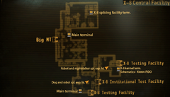 OWB X-8 central facility map