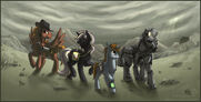 Equestrian wasteland by idess-d3ins9f