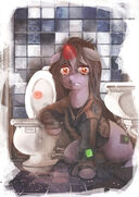 138720 - artist-xatiav drugs fallout equestria Littlepip party time mintals toilet