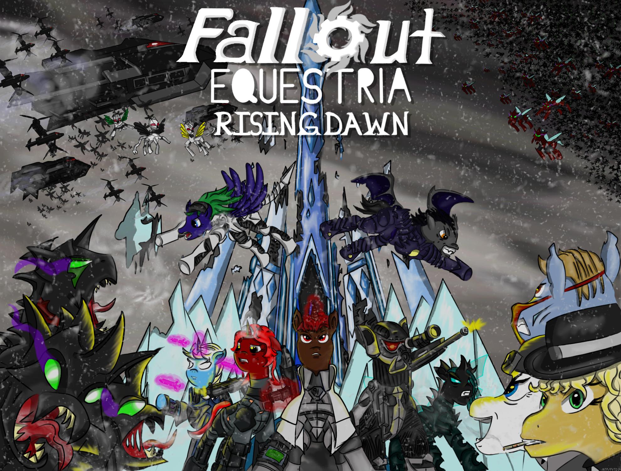 Art Fallout 2014  >> Image Fallout Equestria Rising Dawn Cover Art Jpg Fallout