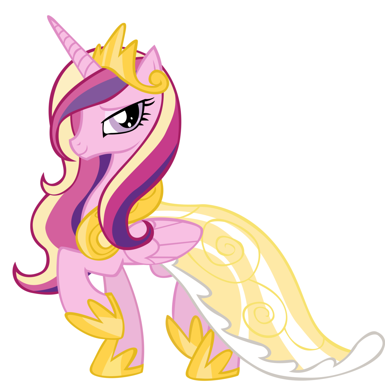 Pictures of princess cadence in a dress