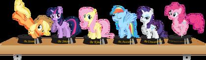 Fallout equestria statuettes by thorwaldsen92-d6pf4f0