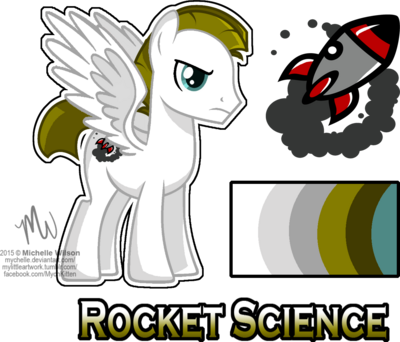 Mlp oc rocket science reference by mychelle-d9momaf