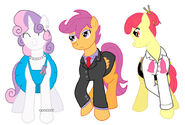 54952 - Cutie Mark Crusaders Fallout Stable-Tec Sweetie Belle apple bloom artist-irkengeneral cmc fallout equestria grown up scootaloo