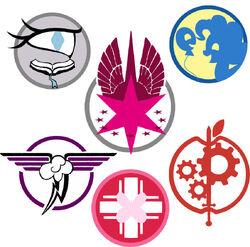 Символы шести Министерств