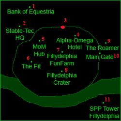 Филлидельфия (карта, в подробностях и с метками)