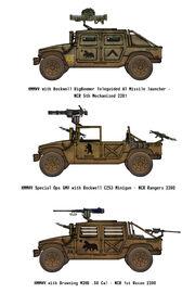 NCR Humvees