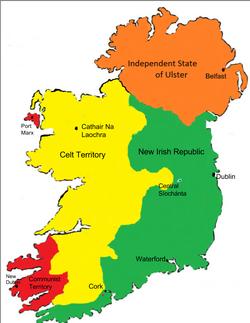 Map of post-war Ireland
