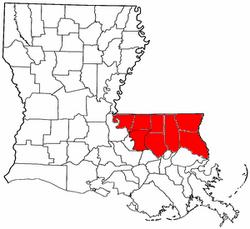 Map of Florida Parishes