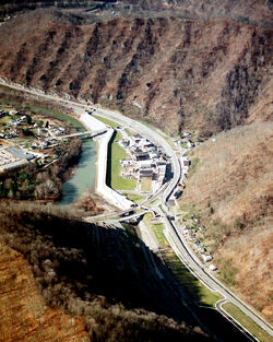 Matewan aerial view