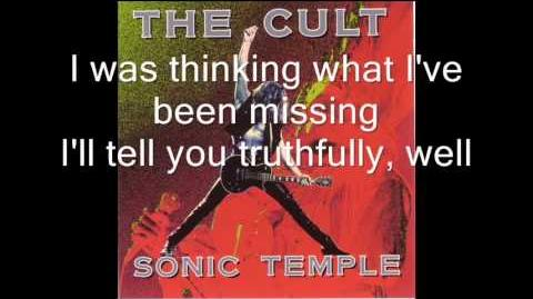 The Cult - Fire Woman LYRICS ON SCREEN