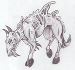 Mutant zombie goat horse by renji7
