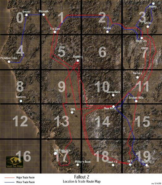 Image - Fallout 2 map.jpg | The Wasteland Survival Guide Wiki ...