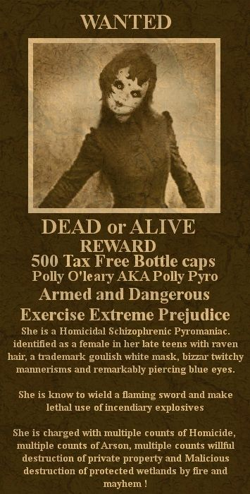 WANTED Polly Pyro
