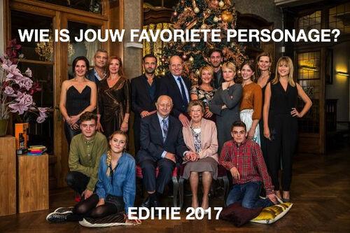 Wie is jouw favoriete personage? Editie 2017