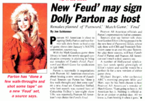 New Feud May Sign Dolly Parton as Host