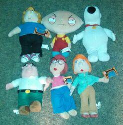 Family-Guy-Plush-Set-Lot-of-6-Brian