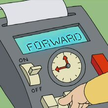 Stewey's time machine control panel