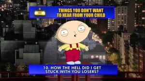 David Letterman - Family Guy Top Ten with Stewie
