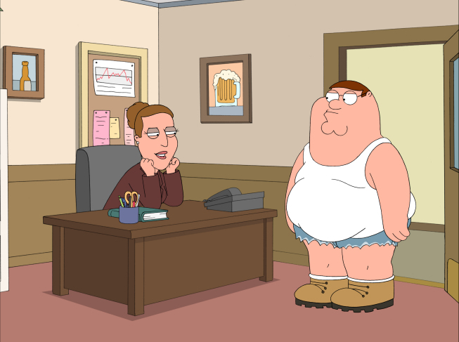 Family guy peter sexually harassed by boss
