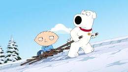 Brian Carries Stewie Up the Mount