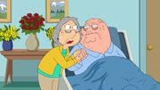 Old Lois Clasping Old Peter's Hand