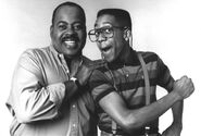 Carl and Steve Urkel (black and white)