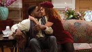 Eddie and Greta Kissing (My Bodyguard)