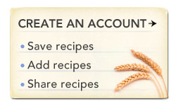 Recipes create an account