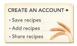 Recipes create an account
