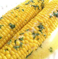 Lime corn on the cob