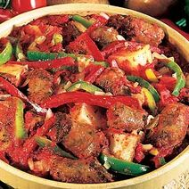 Sausage-and-potato-casserole