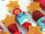 Fourth of July dessert kabobs