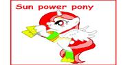 Power pony sunset