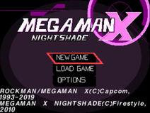 MegaManXNightshadePSX BETATitle
