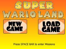 SuperWarioLand TitleScreen