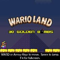 WarioLand30GoldenBombs TitleScreen